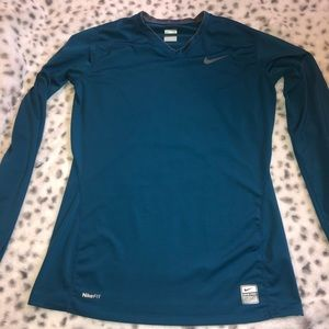 Nike Pro Fitted V Neck Long Sleeve
